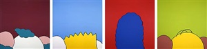 4 small landscapes (k, b, m, h) by kaws