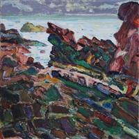 bass rocks by bernard chaet