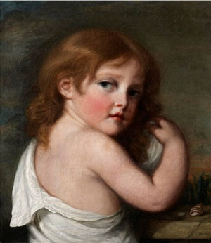 portrait of a young girl looking over her shoulder by jean baptiste greuze