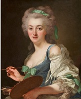 portrait de anne vallayer-coster (1744-1818) by alexander roslin