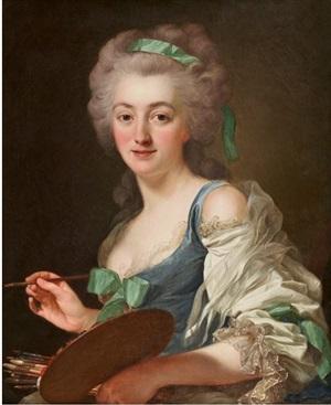portrait de anne vallayer-coster (1744-1818) by alexander roslin
