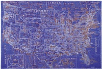 the united states (blue) by paula scher
