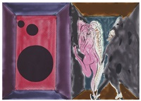 a rave's romance from the series paradise by night by chris ofili