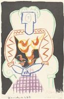 la femme au fauteuil (die frau im lehnstuhl) by pablo picasso