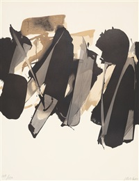 lithographie no. 14 by pierre soulages