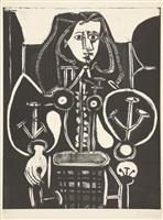 femme au fauteuil no. 4 (frau im lehnstuhl nr. 4) by pablo picasso