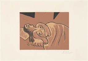 femme endormie / dormeuse (schlafende frau) / (schlafende) by pablo picasso