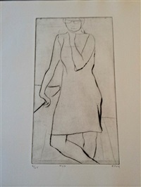 #28 from 41 etchings and drypoints by richard diebenkorn