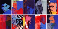 ten portraits of jews of the twentieth century fs ii.226-235 by andy warhol