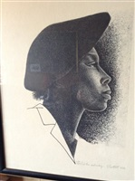 on the subway by elizabeth catlett