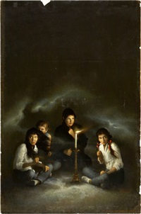 the séance, paperback cover by george ziel