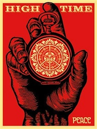 high time for peace by shepard fairey