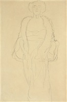 amalie zuckerkandl standing from the front by gustav klimt