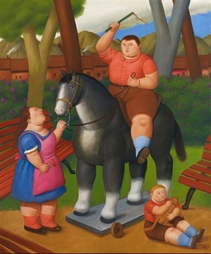 in the park by fernando botero