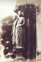 statuary on the north porch of chartres cathedral by henri le secq