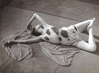 modernist study of a dancer reclining by brassaï