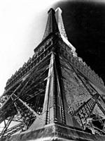 double-impression of the eiffel tower, paris by françois kollar