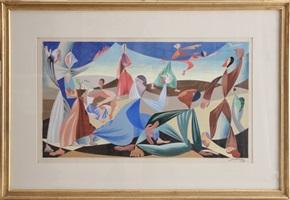 figures in a landscape by léopold survage
