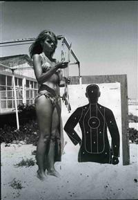 jane fonda (with target) by dennis hopper