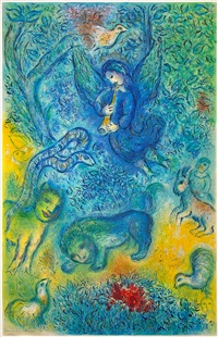 la flûte enchantée (the magic flute) by marc chagall