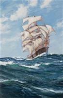 clipper ship forest queen by montague dawson