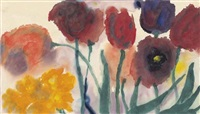 tulips and daffodils by emil nolde