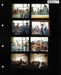last resort contact sheet containing one of martins most famous images. by martin parr