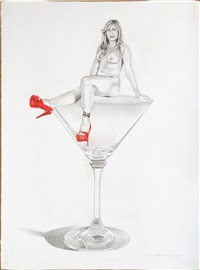 red shoes (martini miss) by mel ramos
