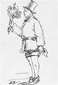 young man with flowers 1924-2014 no. 2 by yang jiechang