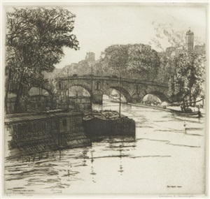 pont marie, paris by caroline helena armington