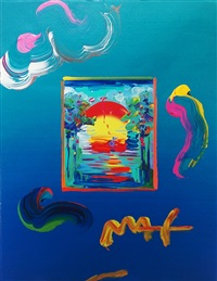 better world (overpaint) by peter max
