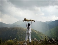 holding the lamb by marina abramović