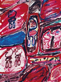 site avec 6 personnages by jean dubuffet