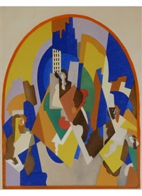 decoration for the moscow train station by albert gleizes