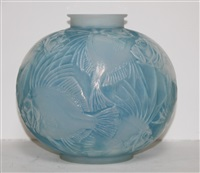 possion vase by rené lalique