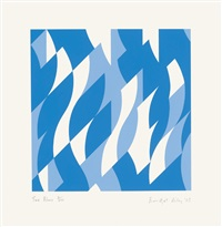 two blues by bridget riley