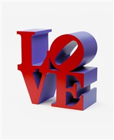 love (red faces violet sides) by robert indiana