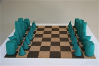 chess set by barry flanagan