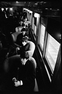 the beatles wait to arrive, union station, d.c. by bill eppridge