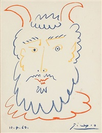 head of a satyr by pablo picasso