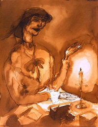 woman in interior by george grosz
