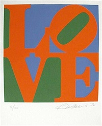 the book of love #7 by robert indiana