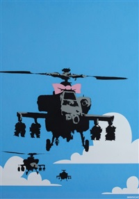 happy choppers signed by banksy
