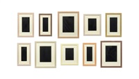 collection of ten plaster surrogates by allan mccollum