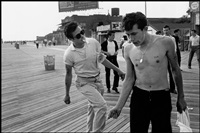 usa. coney island, ny. 1959. brooklyn gang. on the boardwalk at west thirty-third street, coney island. left to right: junior, bengie, lefty. by bruce davidson