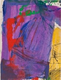 untitled (color abstraction) by franz kline