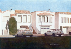 four houses on penn ave by robert bechtle