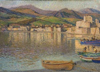 port of collioure by henri jean guillaume martin