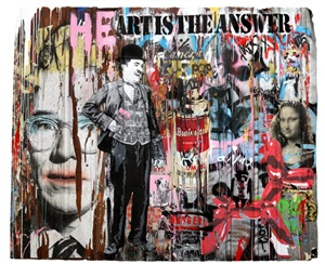 heart is the answer by mr. brainwash