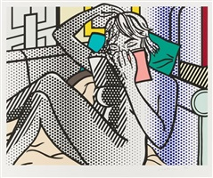 nude series - nude reading by roy lichtenstein